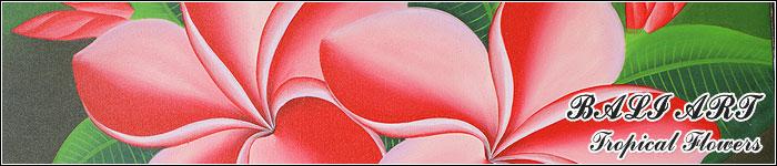 バリ絵画『フラワースタイル』 ミニサイズ