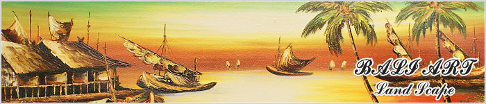 バリ島の風景画『ライステラス、トロピカルビーチなど』