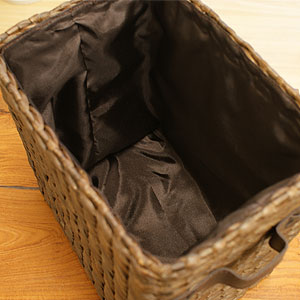 ヒヤシンスバスケットC ブラウン ハーフサイズ 「カゴ・バスケット」