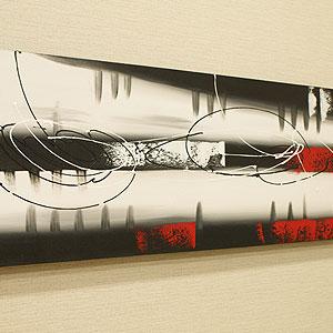 バリ絵画 モダンスタイルアート100×35 18