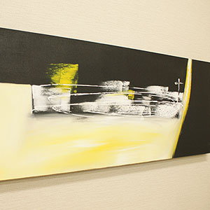 バリ絵画 モダンスタイルアート120×45 02